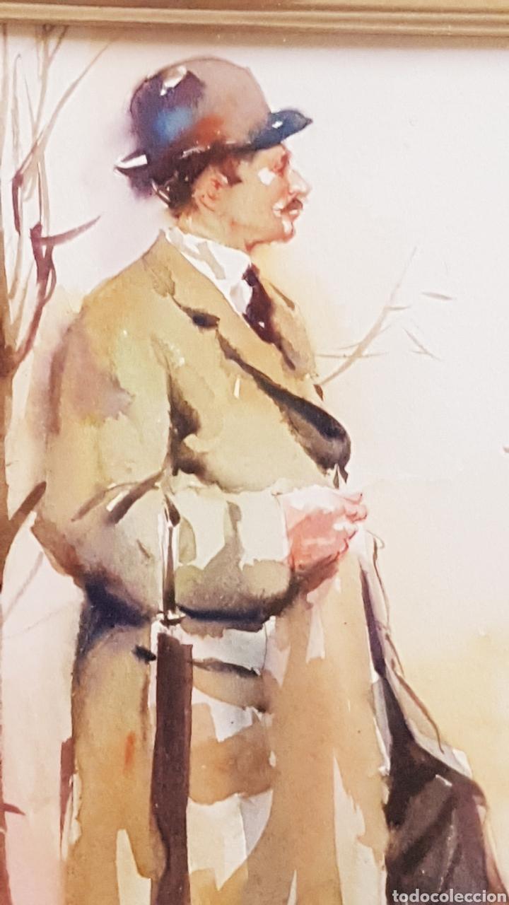 Arte: ALFREDO SANCHIS CORTÉS ( VALENCIA 1932-2014) LIMPIABOTAS , ACUARELA 245 x 185 - Foto 4 - 211443239