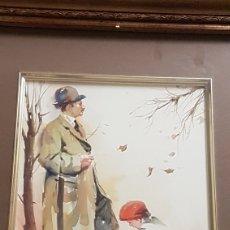Arte: ALFREDO SANCHIS CORTÉS ( VALENCIA 1932-2014) LIMPIABOTAS , ACUARELA 24'5 X 18'5. Lote 211443239