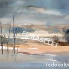 Arte: DIA GRIS - ACUARELA SOBRE PAPEL DE J.MARFÁ GUARRO- DE SU COLECCION PARTICULAR. Lote 212100135