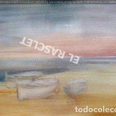Arte: BARCAS - ACUARELA SOBRE PAPEL DE J.MARFÁ GUARRO- DE SU COLECCION PARTICULAR. Lote 212100673