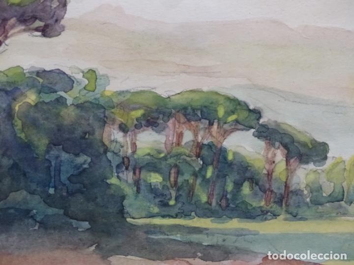 Arte: Acuarela anónima de buen trazo.pineda. - Foto 3 - 212119117
