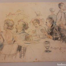 Arte: ACUARELA Y DIBUJO CON LÁPICES DE COLORES DE CARLOS BÉCQUER. Lote 212566185