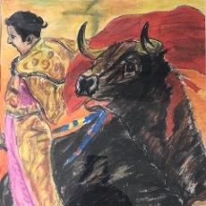 Arte: GRAN CUADRO PINTURA TOROS VINTAGE AÑOS 60 MUSEO TORERO COLECCION DECORACION BAR RESTAURANT BCN. Lote 212610920