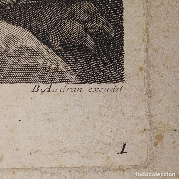 Arte: HERCULES MATANDO LA HIDRA. GRABADO SOBRE PAPEL. HECQUET. AUDRAN. FRANCIA. SIGLO XVIII - Foto 11 - 212701448
