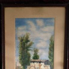 Arte: ACUARELA / PAISAJE: * CASA CON ÁRBOLES *. FIRMADA; V. A. CASAMIÁN. FECHADA AÑO 1951. ENMARCADA.. Lote 212702751