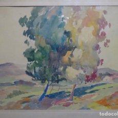 Arte: ACUARELA DE PERE MARRA I DATSIRA, PINTOR DE CASTELAR DEL VALLÈS.GRAN COLORIDO.. Lote 212806617
