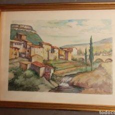 Arte: ACUARELA DE FRANCISCO SAINZ DE LA MAZA. Lote 212942006