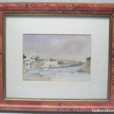 Arte: BELLA ACUARELA ORIGINAL BALEARES MENORCA - ENMARCADA SIMIL LIMONCILLO. Lote 212954688