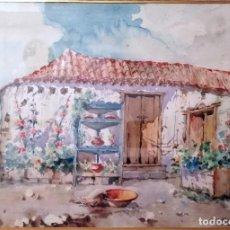 Arte: ACUARELA DE MANUEL GONZÁLEZ MENDEZ. Lote 213028266