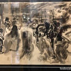 "Arte: "" ESCENA DE MERCADO "" JOSEP BOVER. Lote 213330775"