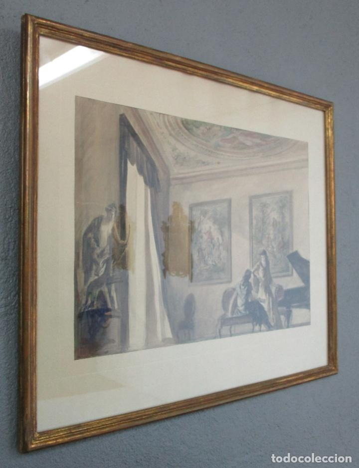 Arte: Bonita Acuarela - Alfred Opisso (Barcelona 1907- Mataró 1980) - Foto 4 - 213939998