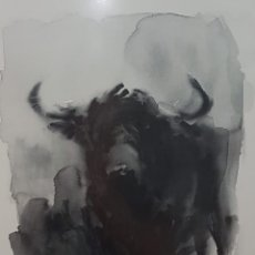 Arte: TAUROMAQUIA NEGRA, ALFREDO SANCHIS CORTES. Lote 214013661
