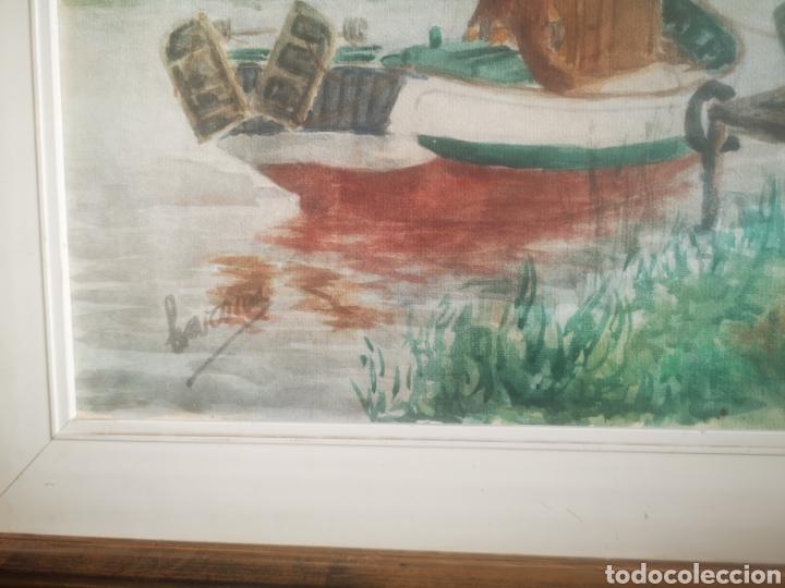 Arte: Preciosa Marina pintada con acuarela por Barona 63x50 enmarcada - Foto 4 - 214206316