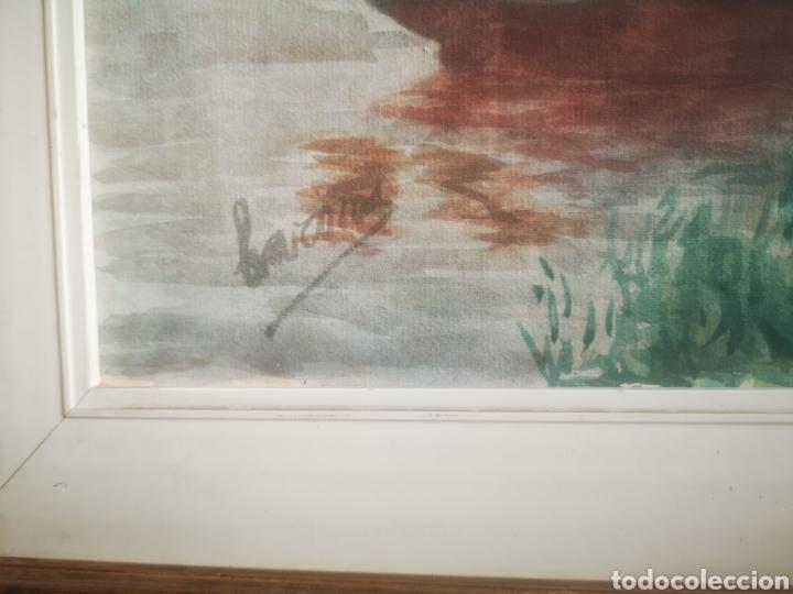 Arte: Preciosa Marina pintada con acuarela por Barona 63x50 enmarcada - Foto 5 - 214206316