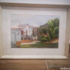 Arte: ACUARELA VISTA DE CASA DE CAMPO, FIRMADA WALKINSON? ENMARCADA 29X37CM. Lote 214220365