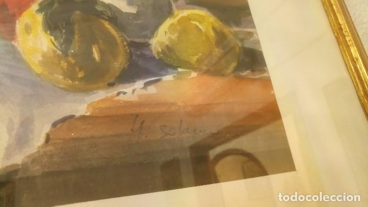 Arte: Acuarela H. Solano con marco - Bodegón - Foto 2 - 214532783