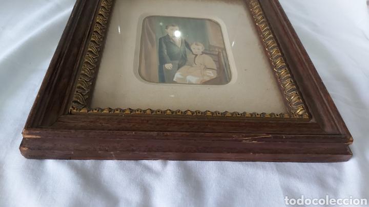 Arte: RETRATO GOUACHE/ACUARELA S.XIX CON MARCO DE MADERA CH ULRICH JUN & CO WIEN VIENA - Foto 5 - 214565600