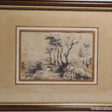 Arte: ACUARELA DE TOMÁS PADRÓ Y PEDRET (BARCELONA 1840 - 1877). Lote 214815073