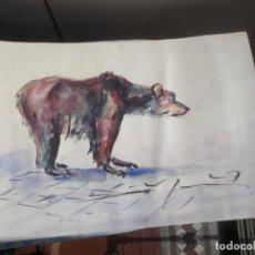 Arte: CARLOS BECQUER - OSO - ACUARELA. Lote 215148280