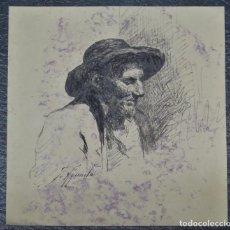 Arte: TIPO SEGOVIANO. TINTA SOBRE PAPEL. JOSE AGUADO Y GUERRA (TRIGUEROS, HUELVA 1856-1905). Lote 215745448