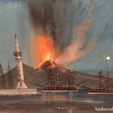 Arte: OBRA ITALIANA -TITULADA ERUZIONE 1.872. Lote 216885975