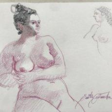 Arte: ACUARELA DE EMÍLIA CASTAÑEDA.. Lote 216952612