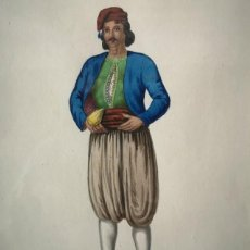 Arte: ACUARELA SOBRE PAPEL COSTUME D´ITALIA Nº33 V. FENECH FINALES S XVIII. Lote 217073827