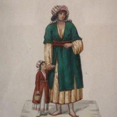 Art: ACUARELA SOBRE PAPEL ALBANESE Nº12 V. FENECH FINALES S XVIII. Lote 217076308