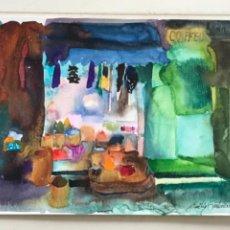 Arte: ACUARELA DE EMÍLIA CASTAÑEDA.. Lote 217195562