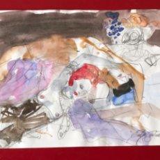 Arte: ACUARELA DE EMÍLIA CASTAÑEDA.. Lote 217196171