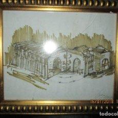 Arte: MUSEO O SIMILAR ACUARELA BOCETO PROLLECTO ORIGINAL ANTIGUO DE LEIVA. Lote 217324743