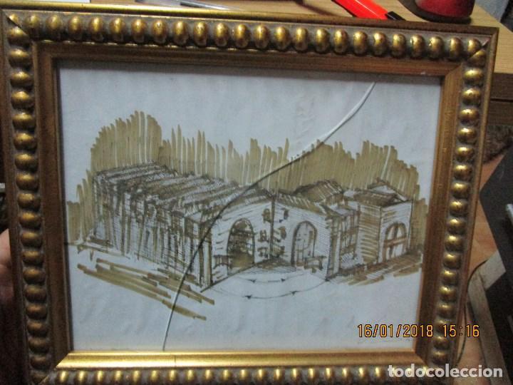 Arte: MUSEO O SIMILAR acuarela BOCETO prollecto ORIGINAL ANTIGUO de Leiva - Foto 2 - 217324743
