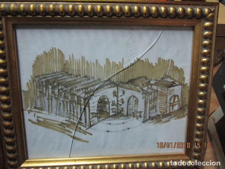 Arte: MUSEO O SIMILAR acuarela BOCETO prollecto ORIGINAL ANTIGUO de Leiva - Foto 3 - 217324743
