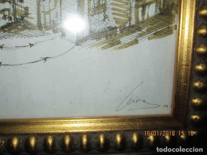 Arte: MUSEO O SIMILAR acuarela BOCETO prollecto ORIGINAL ANTIGUO de Leiva - Foto 4 - 217324743