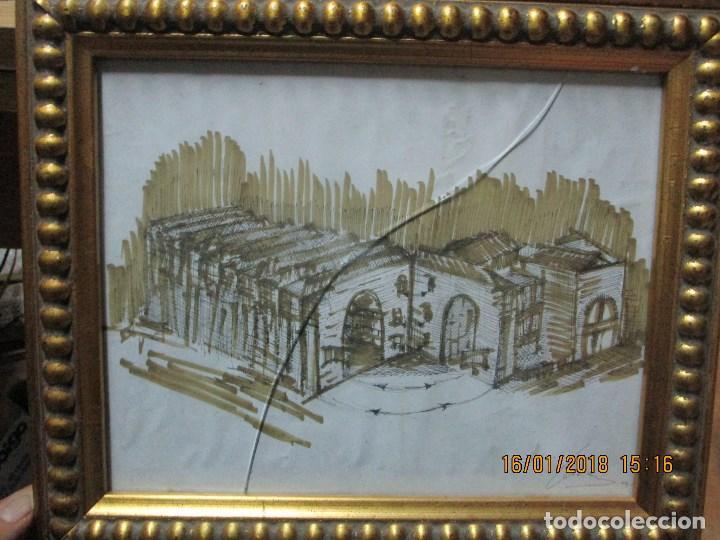 Arte: MUSEO O SIMILAR acuarela BOCETO prollecto ORIGINAL ANTIGUO de Leiva - Foto 6 - 217324743