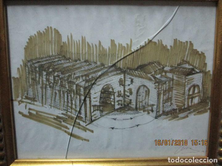 Arte: MUSEO O SIMILAR acuarela BOCETO prollecto ORIGINAL ANTIGUO de Leiva - Foto 7 - 217324743