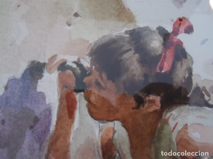 Arte: ACUARELA RAFAEL SEMPERE OBRA LA FUENTE - Foto 4 - 217584307
