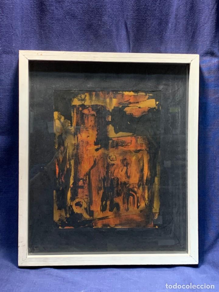 ACUARELA DIBUJO TINTA PAPEL FIRMA FORRALO 76 ENMARCADO (Arte - Acuarelas - Contemporáneas siglo XX)