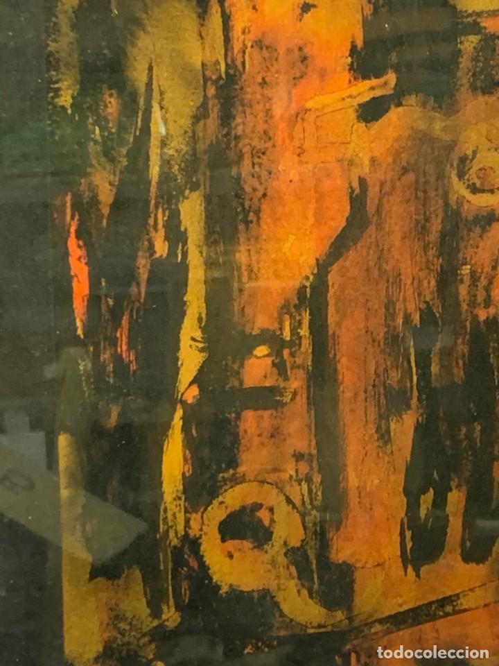 Arte: acuarela dibujo tinta papel firma forralo 76 enmarcado - Foto 7 - 217899598