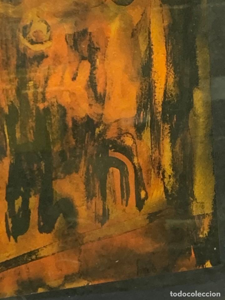 Arte: acuarela dibujo tinta papel firma forralo 76 enmarcado - Foto 8 - 217899598