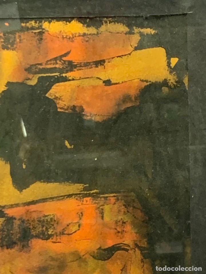 Arte: acuarela dibujo tinta papel firma forralo 76 enmarcado - Foto 9 - 217899598