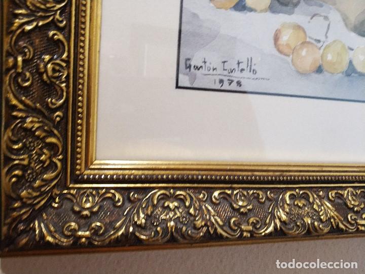 Arte: gaston castello acuarela antigua muñeco de vaca con uvas firmado data 1978 - Foto 4 - 217911108