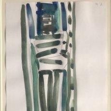 Arte: ENVIO 12€.DIBUJO ACUARELA ORIGINAL DE VICENTE PERIS ENMARCADO. MIDE 42X33CM. Lote 217969988