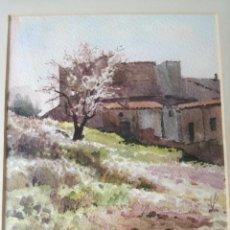 Arte: JOAN SERRES ASENS (1943) ARTISTA DE TERRASSA ACUARELA FIRMADA EN 1985. Lote 218011547