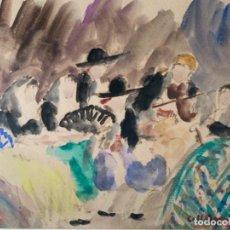 Arte: DIBUJO ACUARELA ORIGINAL FIRMADO COLL BARDOLET 32X22,5 CM.. Lote 218097881