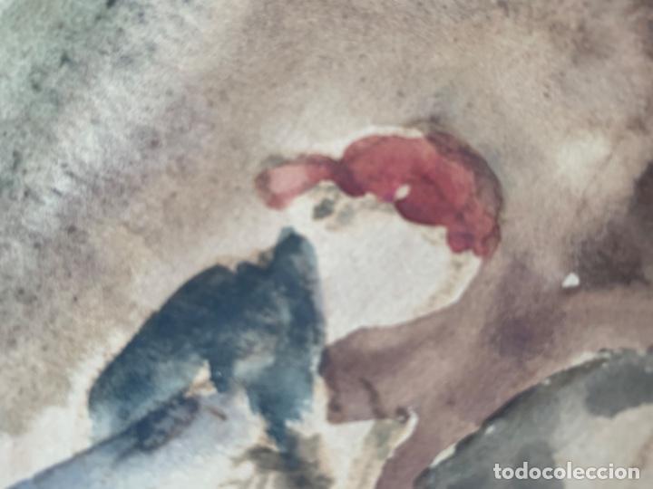 Arte: DIBUJO ACUARELA ORIGINAL FIRMADO COLL BARDOLET 32X22,5 CM. - Foto 8 - 218097881