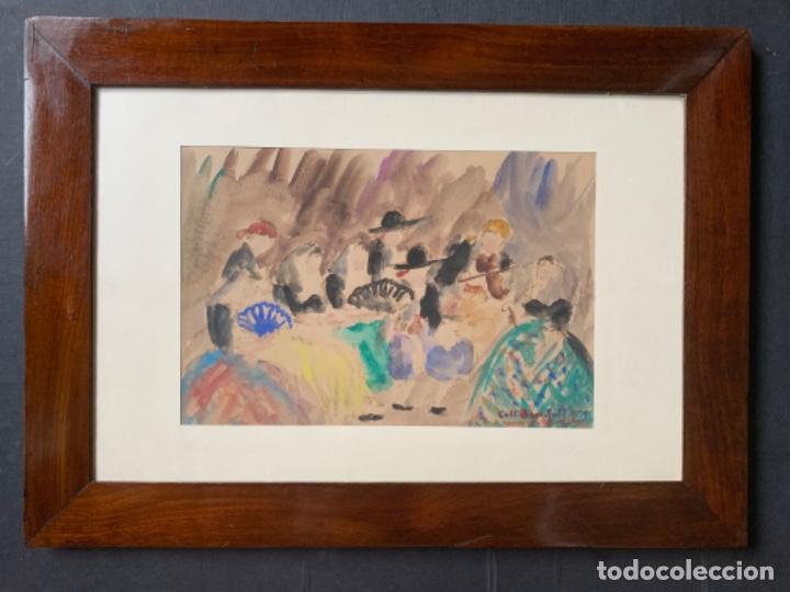 Arte: DIBUJO ACUARELA ORIGINAL FIRMADO COLL BARDOLET 32X22,5 CM. - Foto 19 - 218097881