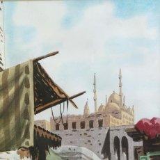 Arte: ACUARELA SOBRE PAPEL VISTA MERCADO ÁRABE FIRMADA M.OKASHA. Lote 218198847
