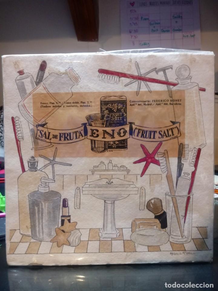 Arte: 2 acuarelas originales de Maria Pou con publicidad original antigua. - Foto 2 - 218358435