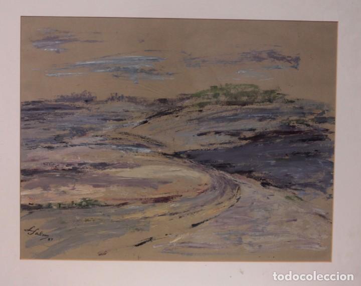 Arte: Luz SALOM (XX) Valencia. Acuarela, enmarcada 77x63cm - Foto 2 - 218576450